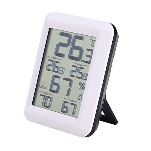 Hygrometer digitale thermometer, professionele binnentemperatuur-meetinstrument, luchtvochtigheid, weerstation, met LCD-display voor binnenruimtes, kas, kamer en huis